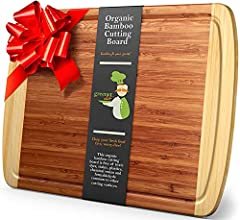 Eco-Friendly, Professional-Grade & 100% Organic Materials Make The Greener Chef Bamboo CuttingBoard A Cut Above The Rest Whether you're prepping a dozen veggies for authentic Asian stir-fry or carving up a chicken to go with your homemade...