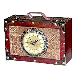 Vintiquewise(TM) Antique Style Suitcase with Clock