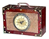 Vintiquewise TM Antique Style Suitcase with Clock