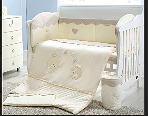 3 piece Baby Nursery Crib Bedding Set for boys and girls by Baby Owl ()