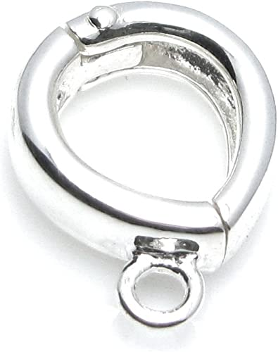 1x 925 STERLING SILVER PENDANT BAIL LOOP RING 9mm x 3mm