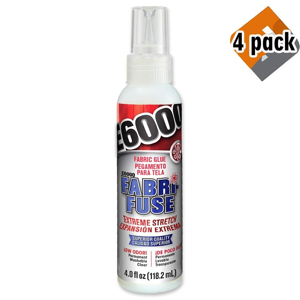 E6000 565004 Fabri-Fuse Adhesive - 4 fl oz Shelf Bottle, 4 Pack by E6000