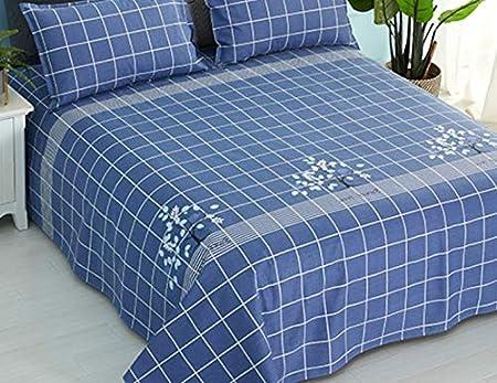 AJCAW Tela de algodón Grueso de una Sola Pieza con una Malla Azul única de 120 x 230 cm más una Funda de Almohada: Amazon.es: Hogar