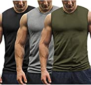 COOFANDY Men's 3 Pack Workout Tank Tops Muscle Tee Bodybuilding Fitness Gym Sleeveless T Sh