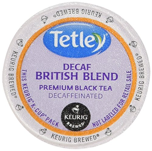 Decaf Tetley Tea (Tetley Decaffeinated Black Tea K-Cup Portion Pack for Keurig Brewers, British Blend, 24 count, Pack of 1)
