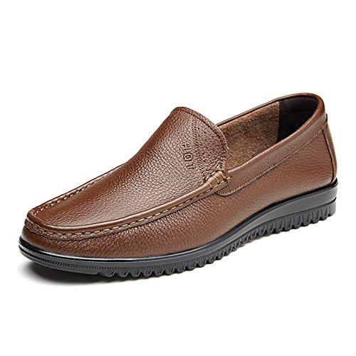 Aemember giovani Scarpe Uomo quotidianamente le scarpe per il tempo libero gli uomini il piede del manicotto morbido traspirante scarpe fondo ,41, colore marrone chiaro