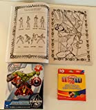 Marvel Ultimate Spider-Man Jumbo Coloring & Activity Book + Jumbo Crayon Pack of Crayons + Marvel Avengers Assemble Shaped Puzzle
