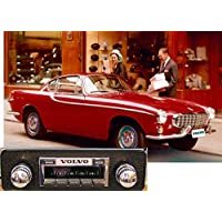 1961-1973 Volvo P1800, P1800S, P1800ES High Power 300 watt AM FM Car Stereo/Radio with AUX Input, USB Input, 32 pin iPod Docking Cable. No modifications to original dash required.