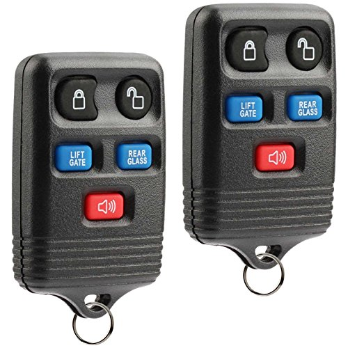 Car Key Fob Keyless Entry Remote fits 2003-2006 Ford Expedition / 2003-2007 Lincoln Navigator (CWTWB1U551), Set of 2