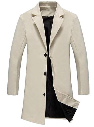 Gocgt Mens Double Breasted Overcoat Classic Trenchcoat Pea Coats