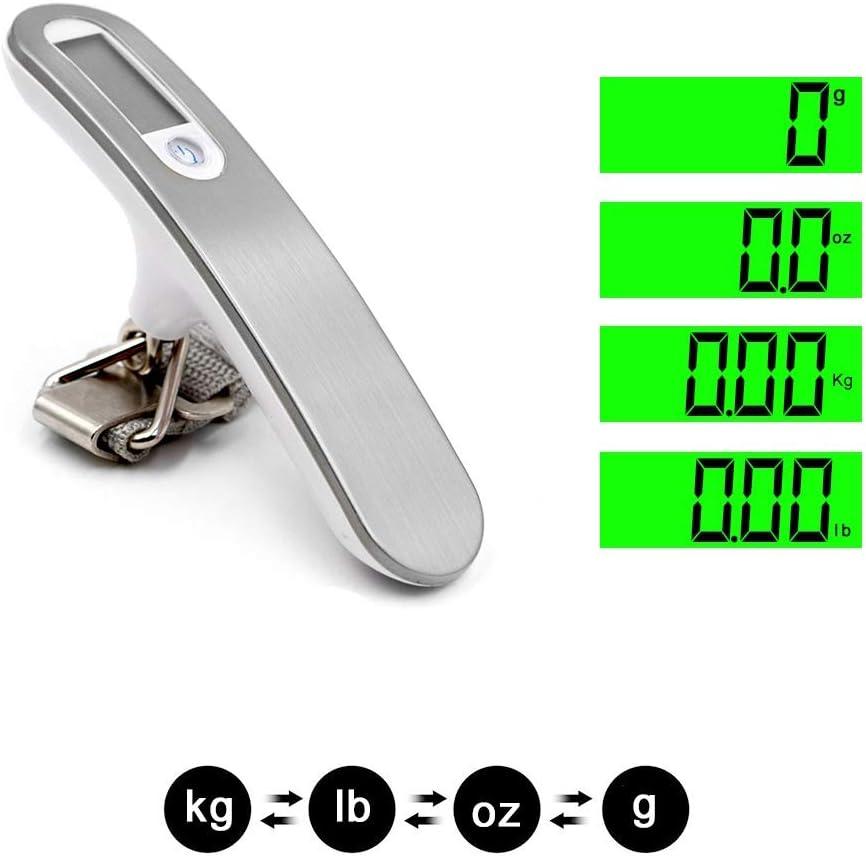 HCHD 50kg x 10g Bilancia digitale per bagagli Scala elettronica portatile Bilancia pesapersone da viaggio Attaccatura stadera Scala gancio