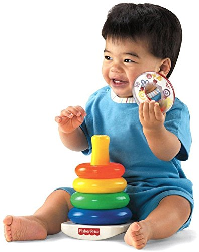 Large Product Image of Fisher-Price Rock-a-Stack and Baby's 1st Blocks Bundle