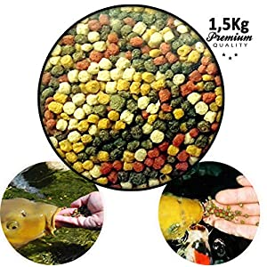 Carpas Comida Mix alimento para Peces de Estanque koi 1,5kg 3mm