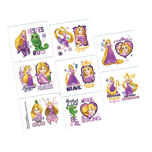 Amscan Tangled Temporary Tattoos Birthday Party Favours (8 Pack)