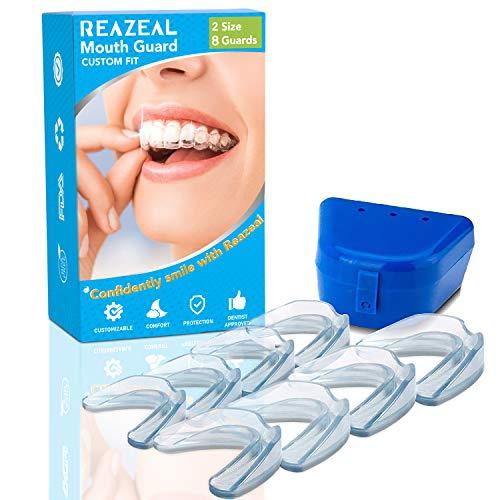 Health Professional Dental Guard - Pack of 8 - New Upgraded Anti Grinding Dental Night Guard, Stops Bruxism, Tmj & Eliminates Teeth Clenching (Tmj Night Guard Anti)