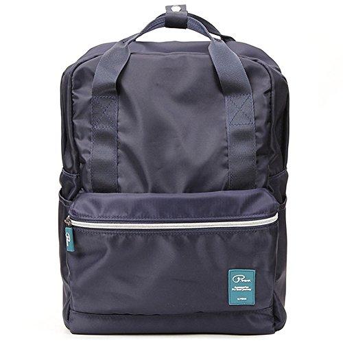 Unisexs Travel Bag Backpack Polyester Outdoor Backpack (Navy blue) - 7