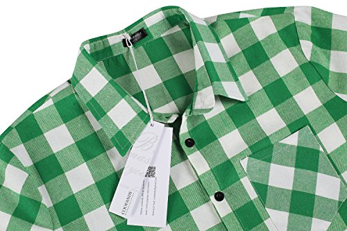 Uomo Maniche Camicie White S Casual Coofandy 2 And 3xl Green Lunghe Dimensione Shirt Cotone twTHPq