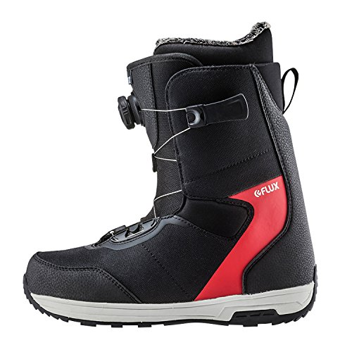 6c0cabed256bc Flux Bindings GTO-Boa Mens Snowboard Boots 2017/18 Model, Black/Red, 10.5