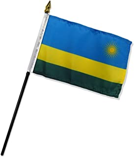 Rwanda 4'x6' Desk Stick Flag (No Base) (1 Flag)