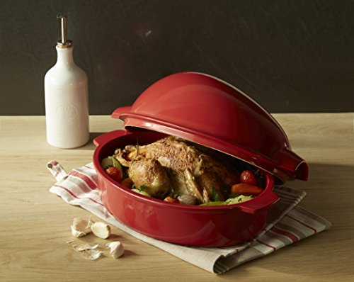 Emile Henry Made In France Chicken Baker, 13.5'' by 9.5'' by 7.5'', Burgundy Red by Emile Henry (Image #3)