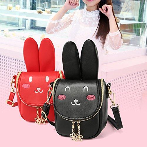 Rot cute sacchetto Rosa pacchetto di bunny cerniera a bambini Rate spalla Borsa Durable Pergamena regalo ragazza xwqZ1FBR