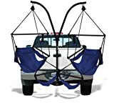 Hammaka Trailer Hitch Stand and 2 Blue Chairs Combo