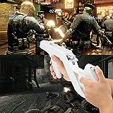 EuroBird Zapper Gun for Nintendo Wii/Wii U Wireless Remote Controller Game(White Set of 2)&Nintendo Shooting Game with Zapper Gun