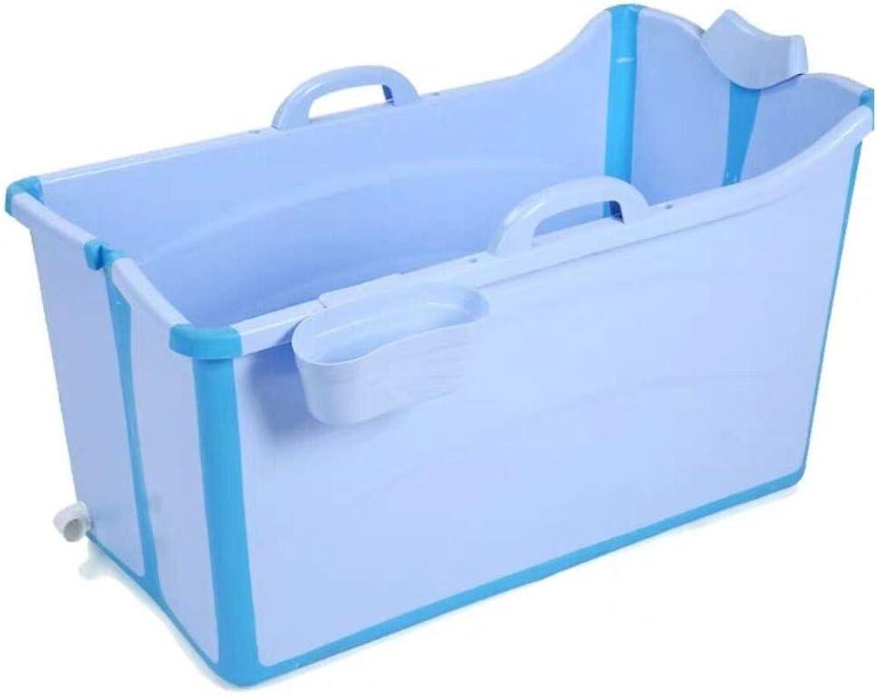 GLokpp Bañera, Ducha portátil, bañera for bebés, bañera Profunda, bañera Plegable, bañera Plegable for niños Grandes, Sentado en la bañera, Piscina Engrosada (Color : A)