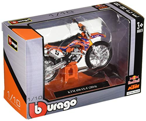 Bburago Die-cast Model - KTM 450 SX-F 2014 Motorbike - 1: 18 Scale - 51072, Multicolor ()