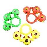 Fushimuma Three Soccers on Plastic Ring Soccer Wrist Rattles Senses Interactive Baby Toys Random 1pcs