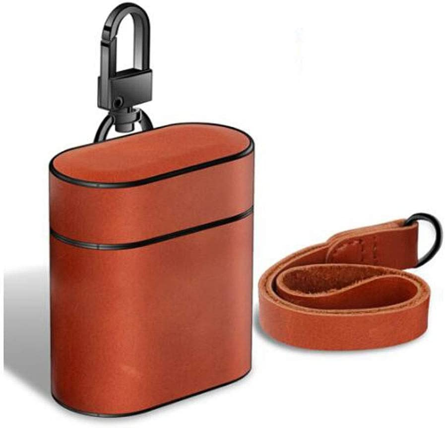 Airpods Protective Cover 1//2 Generation Genuine Leather Top Layer Oil Wax Leather Earphone Storage Box Gentleman Gray Chengjinxiang Earphone Cover Send Anti-Lost Rope + Storage Bag ,Very Perfect