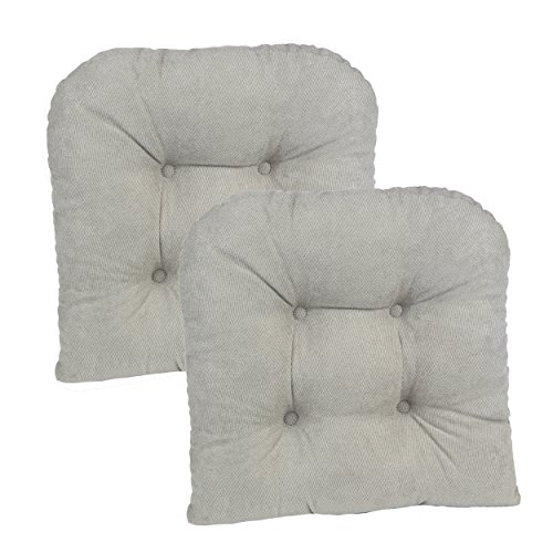 Klear Vu Twilio Twillo Grey Universal Chair Pillow (Set of 2), 15