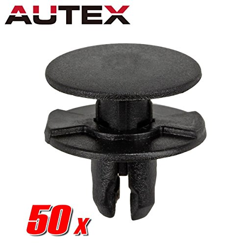 - AUTEX 50pcs Fender Liner Fastener Rivet Push Clips Retainer Nut Replacement for Acura ILX RDX RLX TLX TSX Honda Accord Civic CR-V Crosstour Fit HR-V