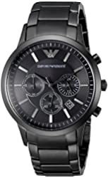 Emporio Armani Men's AR2453 Classic Stainless Steel Black Watch
