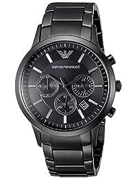 Emporio Armani Men's AR2453 Classic Analog Display Analog Quartz Black Watch