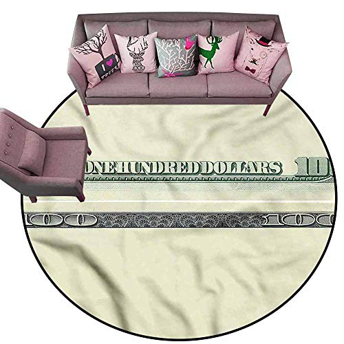 (Floor Mats Modern Kitchen Rug Money,Dollar Bill Frame Pattern Diameter 78