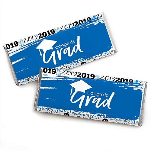 Blue Grad - Best is Yet to Come - Candy Bar Wrapper Royal Blue 2019 Graduation Party Favors - Set of 24