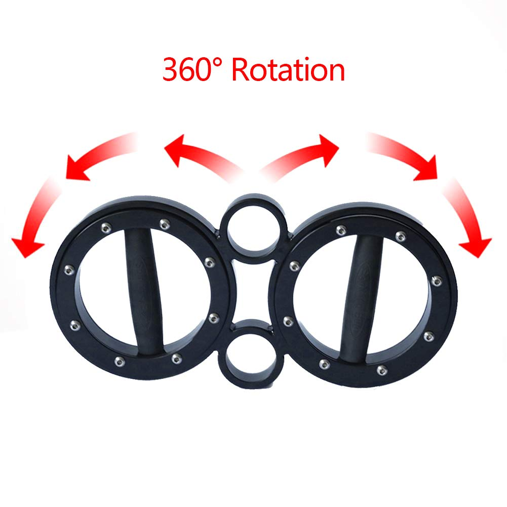 CHEERGO 8 Pounds Multifunctional Hand and Forearm Trainer - Spinning Burn Muscle Training - 360 Degree Rotating Grips - Black by CHEERGO (Image #6)