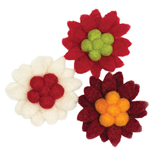 Dimensions 72-08211 Needle Felting Embellishments, Small - Wool Flowers Felting