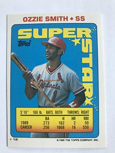 1990 Topps Sticker Backs #12,176 Ozzie Smith NM/M (Near Mint/Mint) ()