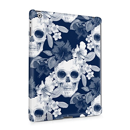 Tropical Floral Pirate Skulls Pattern Indie Hype Hipster Rad Tumblr Plastic Tablet Snap On Back Case Cover Shell For iPad 2 & iPad 3 & iPad 4