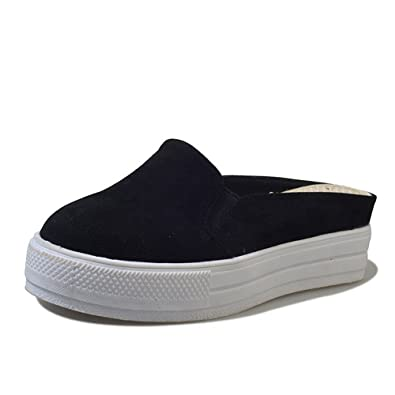 9a6a93dbd0b Half Slippers Canvas Shoes Super fire Board Shoes Korean Wild No Heel Shoes  Summer White Shoes