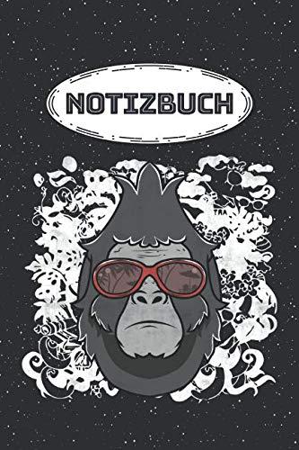 Notizbuch: Affe mit Sonnenbrille Notizbuch, Notizheft oder Schreibheft | 110 linierte Seiten | Etwa DIN A5 (15,2 x 22,9 cm) | Büro Equipment & Zubehör ... Weihnachten oder Geburtstag (German Edition) (Sonnenbrille Mini)