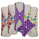 Love My ® /Mama/Girl/Maiden/Antibacterial Bamboo fiber/ Menstrual Pads/ Reusable/ Panty Liners - 6pcs pack-(Middle size)