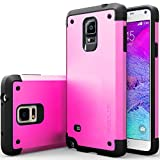 Galaxy Note 4 Case, Caseology [Sleek Armor Series] Slim Fitted Hard Exterior [Purple] [Metallic Shell] for Samsung Galaxy Note 4