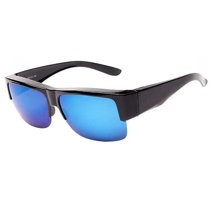 Medio marco se adapta a las gafas de sol Lente polarizada espejada para mujeres y hombres