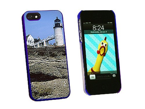 Graphics and More Maine Lighthouse Marshall Point Snap-On Hard Protective Case for iPhone 5/5s - Non-Retail Packaging - Blue