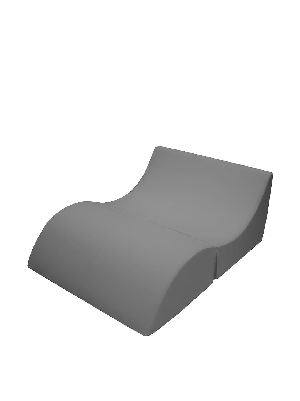 13Casa - Cleo B7 - Pouff chaise longue trasformabile matrimoniale. Dim: 100x70x50 h cm. Col: Arancione. Mat: F00040902033_Orange