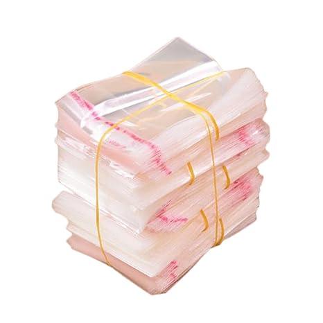 Leisial 200pcs Transparente Bolsa de Plástico Autodhesiva para Guardar Caramelos Pendientes Collar Anillo Pulsera Línea de Datos Accesorios de ...