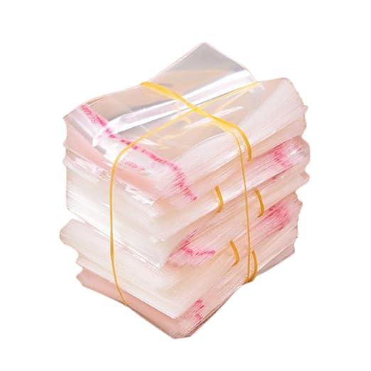 Dylandy - 200 bolsas de celofán transparentes autoadhesivas para dulces galletas y dulces, bolsas de plástico transparente para bautizos, cumpleaños, ...
